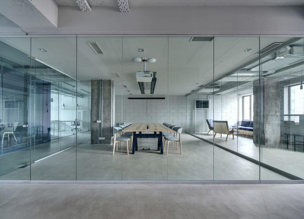 Mirrored Glass Sliding
